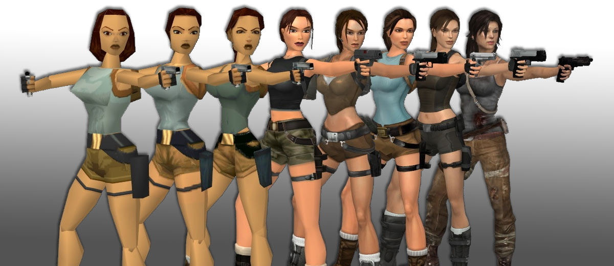 Evolution of Lara Croft gamesGRABR